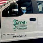 cut vinyl logo decal for truck doors