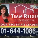 double sided real estate sign aluminum printed graphics