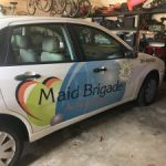 partial car wrap digitally printed vinyl