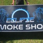 aluminum sign with printed graphic decal
